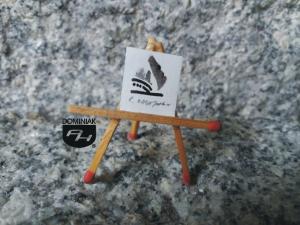 Key nr 9 rysunek tuszem 1,65 cm x 1,76 cm autor Robert Marek Znajomski 2014