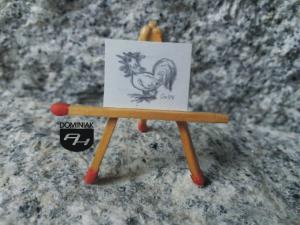 Kogut rysunek ołówkiem 2,09 cm x 1,70 cm autor Volodymyr Goncharenko 2014