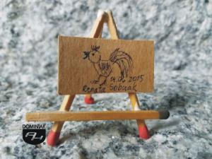 Koko rysunek tuszem 3,00 cm x 2,19 cm autor Renata Sobczak 2015