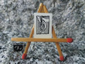 Kresy łanami zbóż malowane rysunek tuszem 1,25 cm x 1,75 cm autor Robert Marek Znajomski 2012