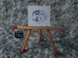 Lustro rysunek ołówkiem 1,85 cm x 1,70 cm autor Volodymyr Goncharenko 2014