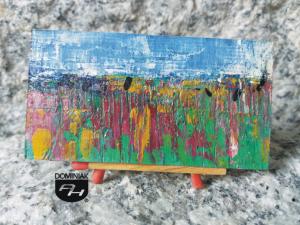 Moczary obraz olejny 6,91 cm x 3,61 cm autor Robert Marek Znajomski 2012
