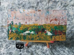 Pejzaż nr 11 obraz olejny 7,30 cm x 3,80 cm autor Robert Znajomski 2012