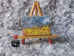 Pejzaż nr 5 wyobrażenie farby artystyczne olejne 2,65 cm x 1,80 cm stwórca Robert Marek Znajomski 2013