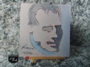 Persona Poeta rysunek tuszem 5,30 cm x 5,50 cm geniusz Piotr Mosur 2013