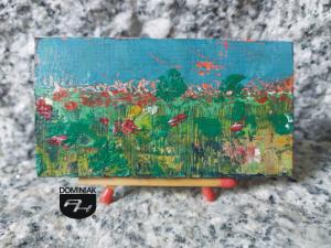 Polne maki obraz olejny 7,11 cm x 3,78 cm autor Robert Marek Znajomski 2012