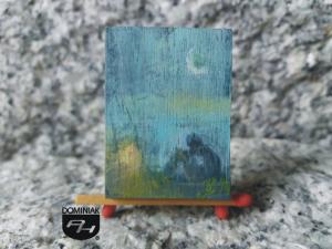 Samotność obraz olejny 2,98 cm x 4,05 cm autor Justyna Weronika Bruj 2014