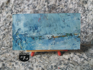 Sztorm obraz olejny 6,19 cm x 3,69 cm autor Robert Marek Znajomski 2012
