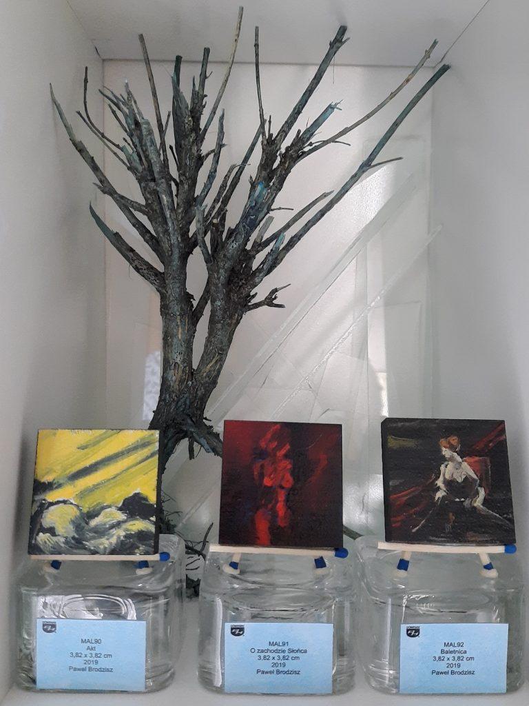 wystawa Akt O zachodzie Słońca Baletnica obrazy olejne na ceramice Paweł Brodzisz 2019